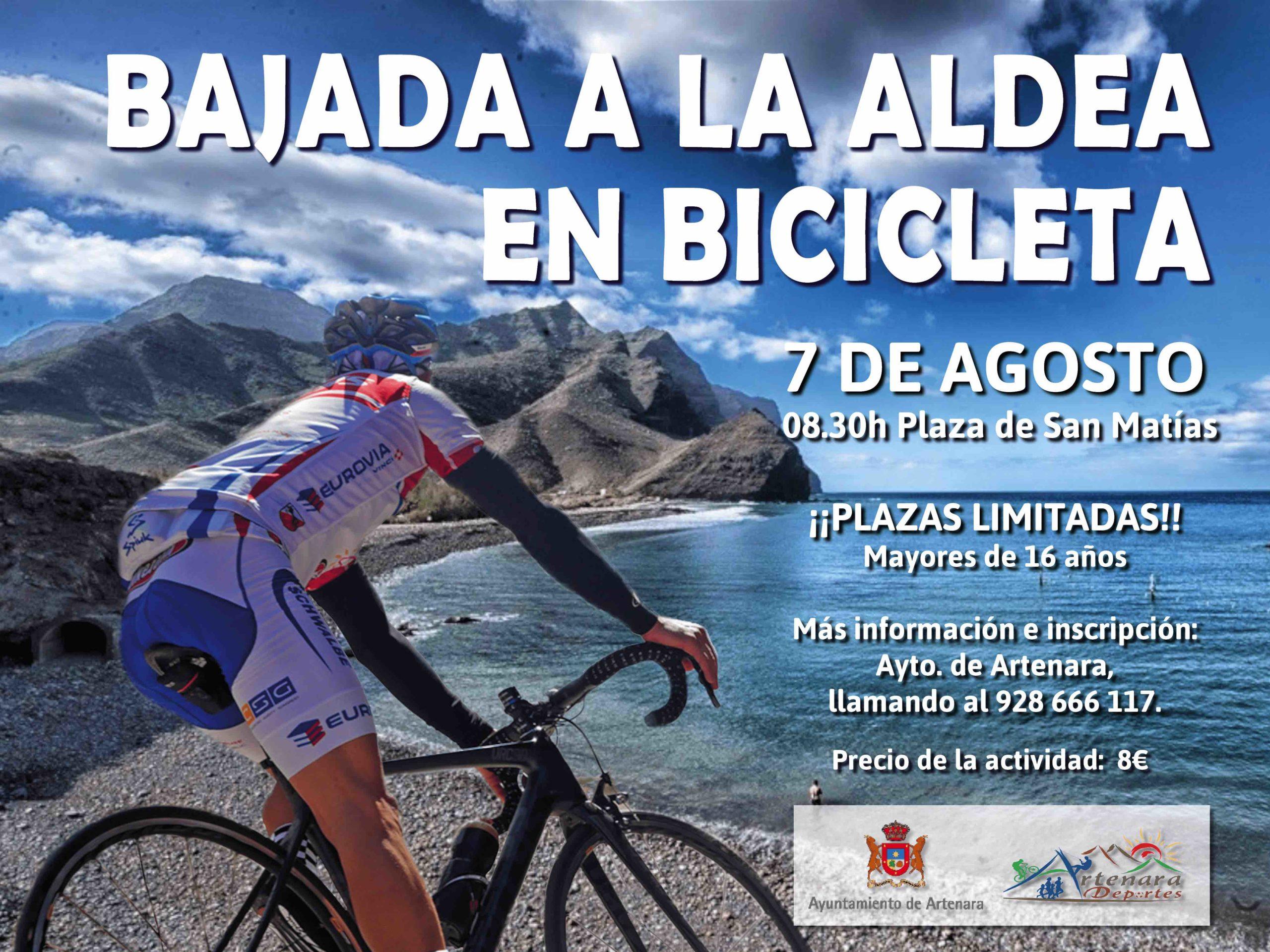 Bajada a La Aldea en bicicleta