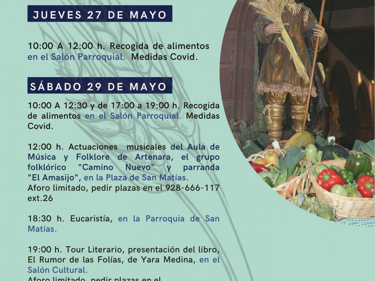 Actos Culturales San Isidro Labrador 2021